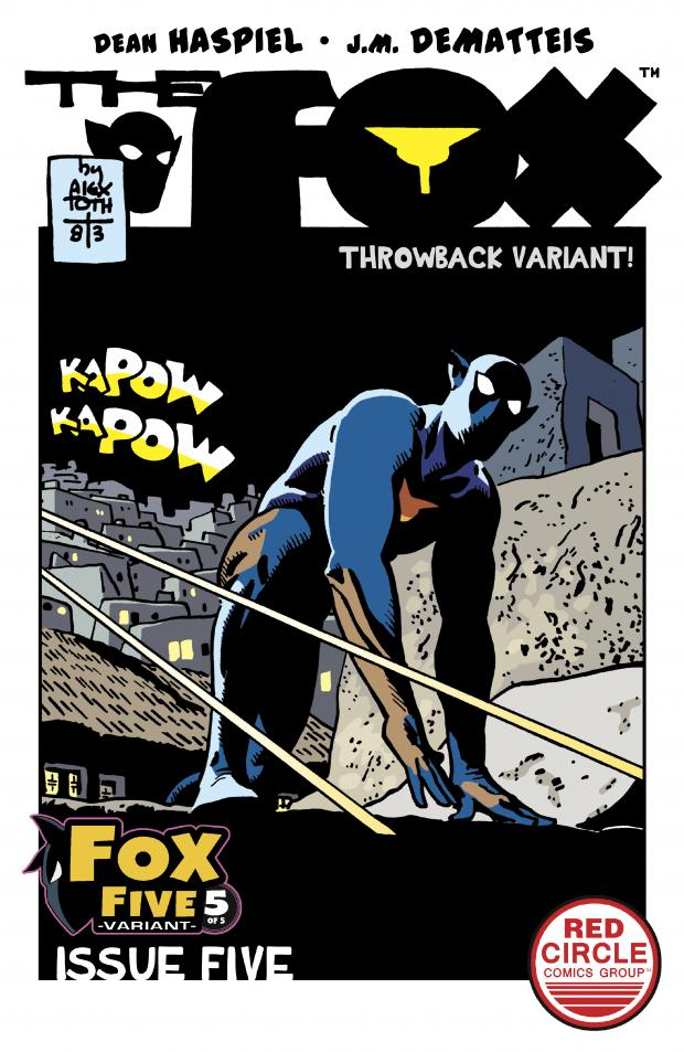 The Fox Number 5 Comic Book cover - Alex Toth